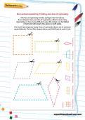 Non-verbal reasoning worksheet: Finding one line of symmetry
