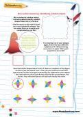 Non-verbal reasoning worksheet: Identifying rotated shapes