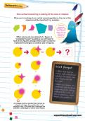 Non-verbal reasoning worksheet: Looking at the size of shapes