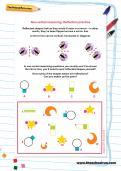 Non-verbal reasoning worksheet: Reflection practice