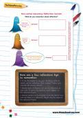 Non-verbal reasoning worksheet: Reflection revision