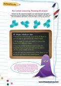 Non-verbal reasoning worksheet: Rotating 3D shapes