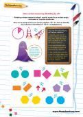 Non-verbal reasoning worksheet: Rotating by 45º