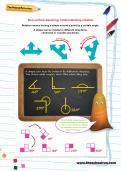 Non-verbal reasoning worksheet: Understanding rotation