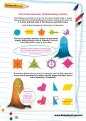 Non-verbal reasoning worksheet: Understanding symmetry