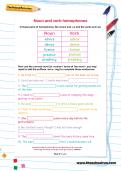 Noun and verb homophones worksheet