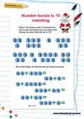 Number bonds to 10 matching worksheet