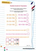Number bonds to 10 practice worksheet