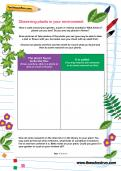 Observing plants in your environment worksheet