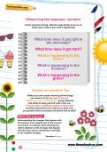 Observing the seasons: summer