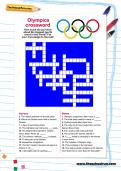 Olympics crossword for children