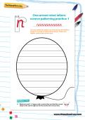 One armed robot letters cursive patterning practice worksheets