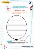 One armed robot letters cursive patterning practice worksheets