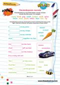 Onomatopoeic sounds worksheet