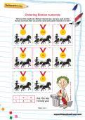 Ordering Roman numerals worksheet