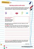 Painting a picture with words worksheet