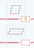 Calculating the area of a parallelogram tutorial