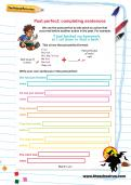 Past perfect: completing sentences worksheet
