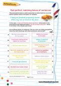 Past perfect: matching halves of sentences worksheet