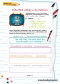 Past perfect: writing your own sentences worksheet