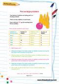 Percentage problem worksheet