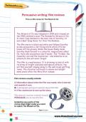 Persuasive writing: film reviews worksheet