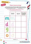Phase 2 phonics bingo game