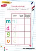 Phase 2 phonics bingo game