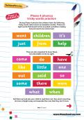 Phase 4 phonics tricky words practice worksheet