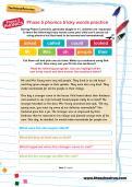 Phase 5 phonics tricky words practice worksheet