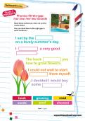 Fill-the-gap: /oo/ /ow/ /ee/ /ea/ sounds (Phase 5 phonics)