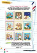Picture sequencing for stories activity