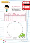 Pie chart practice worksheet