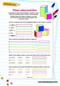 Place value practice worksheet