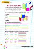 Place value practice worksheet