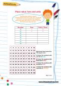 Place value: tens and units worksheet