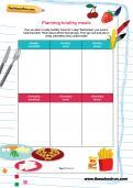 Planning healthy meals worksheet