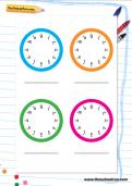 Practice clock templates