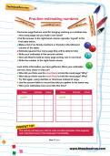 Practise estimating numbers worksheet