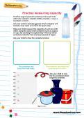 Practise measuring capacity
