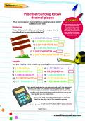 Practise rounding to two decimal places worksheet