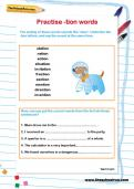 Practise -tion words worksheet