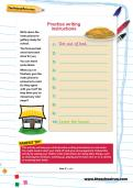 Practise writing instructions worksheet