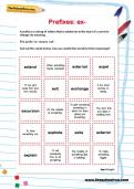 Spelling patterns: the prefix ex- worksheet