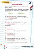 Spelling patterns: the prefix mis-