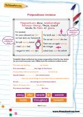 Prepositions revision worksheet