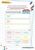 Present perfect: sorting sentences worksheet