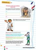 Primary and secondary sources worksheet