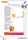 Problem-solving worksheet: smoothies