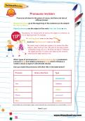 Pronouns revision worksheet